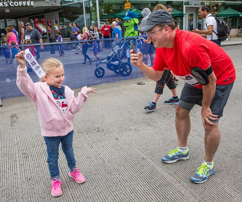 SUBMITTED PHOTO - Hillsboros C.A.T. Walk & Fun Run drew participants of all ages to help raise money to fight cancer.