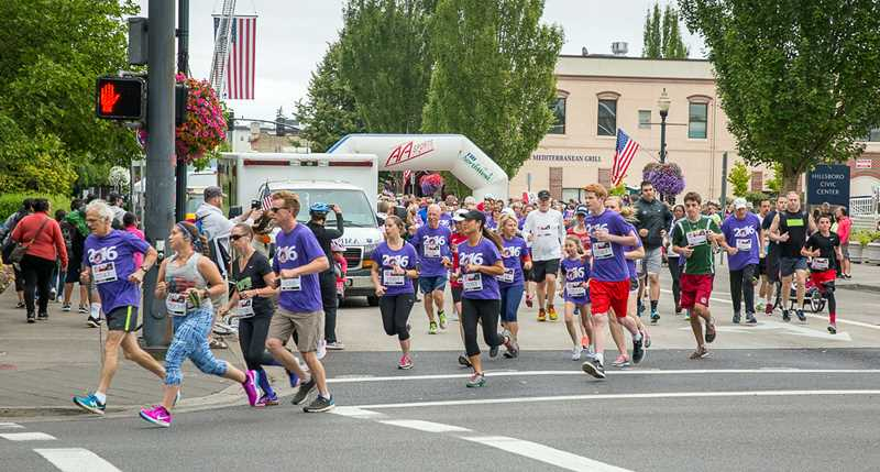SUBMITTED PHOTO - Hundreds of runners raised money for Tuality Healthcares cancer awareness and treatment programs.