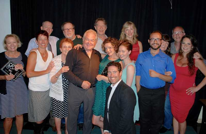 PHOTO COURTESY OF LAKEWOOD THEATRE COMPANY - Award winners for Lakewood Theatre Company's 63rd season include Spencer Conway (kneeling); Jeanne Denton (first row, from left), Pam Mahon, Kay Vega, Alan Shearman, Kelly Stewart, Malia Tippits, Joey Cote and Stephanie Heuston; and Leif Norby (back row from left), Kurt Herman, Burl Ross, Sara Mishler Martins, Margaret Louise Chapman and Greg Tamblyn.