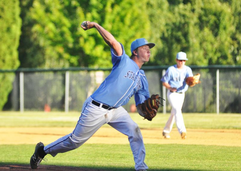 MATTHEW SHERMAN - Tommy Andrew threw a shutout in Lakeridge's opening game at last week's Firecracker Tournament. The Pacers went 3-1 at the event