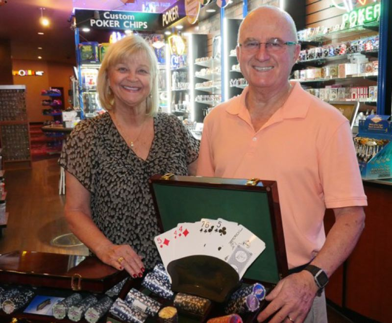CONTRIBUTED PHOTO: JANICE PIERCE PHOTOGRAPHY - Portland residents Ruth and Peter Primiano recently used their winnings from Texas Hold 'Em competitive poker play to enter the World Series of Poker in Las Vegas.