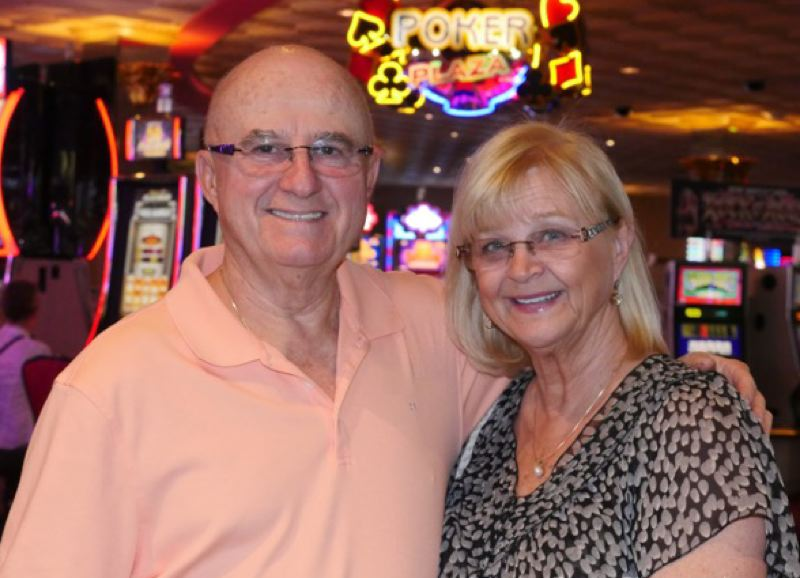 CONTRIBUTED PHOTO: JANICE PIERCE PHOTOGRAPHY - Ruth and Peter Primiano parlayed their $7,500 in poker winnings to enter the World Series of Poker Tournament recently, at the Rio Las Vegas Hotel and Casino. The couple is among a growing number of players who have picked up competitive play after retiring.