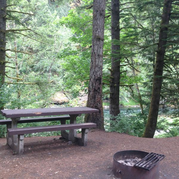 ESTACADA NEWS PHOTO: EMILY LINDSTRAND - Some campsites at Sunstrip Campground are located along the Clackamas River.