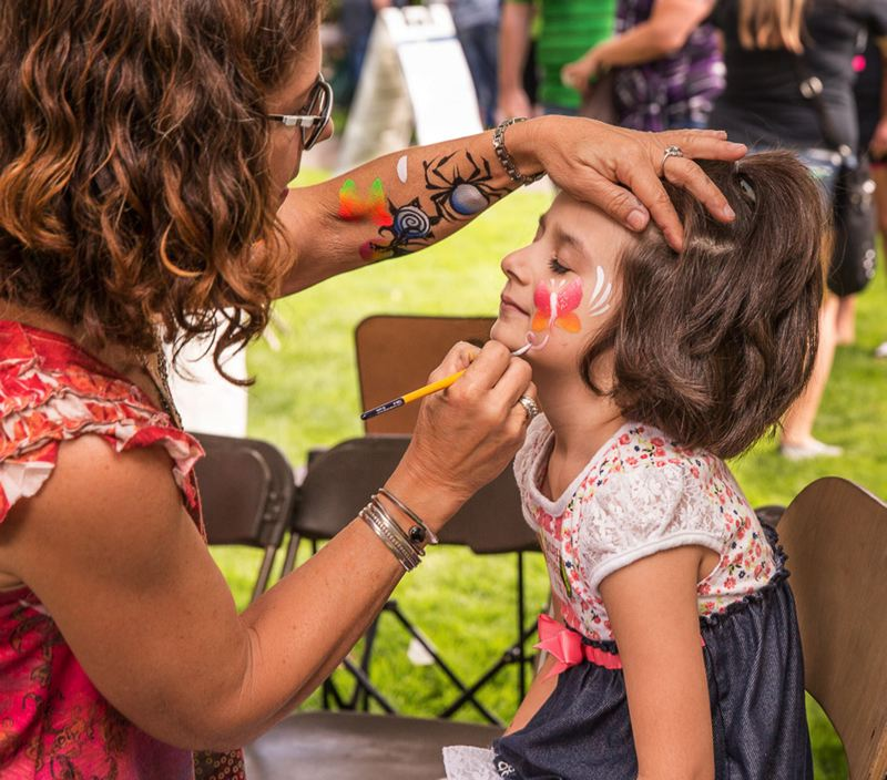 COURTESY PHOTOS: RICK PAULSON - Face painting will be one of the many activities for kids as Celebrate Hillsboro takes over downtown Saturday.