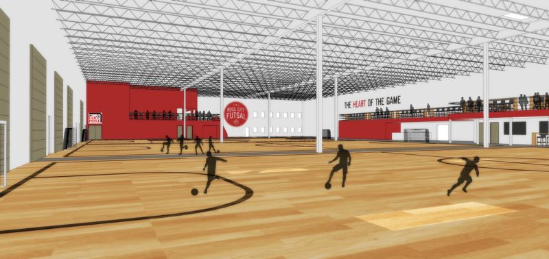 COURTESY OF ROSE CITY FUTSAL - An artist's rendering shows what the Rose City Futsal facility in Tigard is planned to look like.