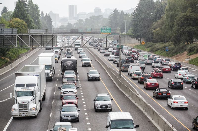 PORTLAND TRIBUNE FILE PHOTO - Regional leaders worry there is no enough money for the transit improvements needed to offset increasing congestion.
