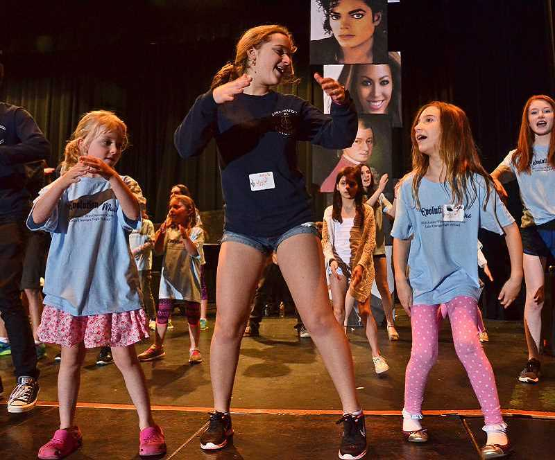 REVIEW FILE PHOTO: VERN UYETAKE - Lake Oswego High School's show choir, Windjammers, held a workshop for children this spring.