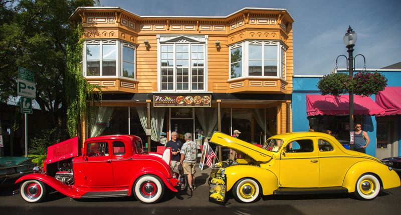 OUTLOOK PHOTO: JOSH KULLA - Classic cars lined downtown Gresham streets Saturday during Rockin' Round the Block, the city's annual tribute to the automobile.