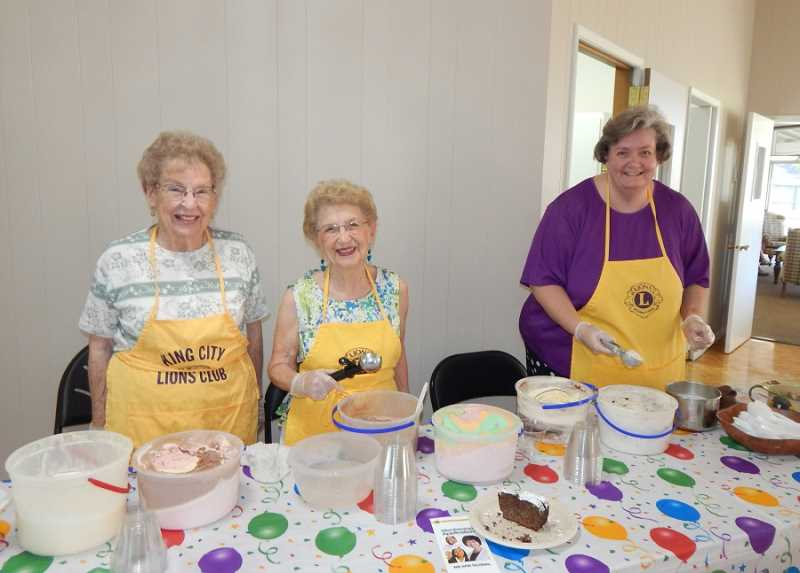 BARBARA SHERMAN - An old-fashioned ice cream social sponsored by the King City Lions Club held Aug. 18 was just one of more than a dozen events held to celebrate the city of King City and King City Civic Association's 50th anniversary.