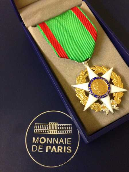 This is the medal Geulin received at the ceremony at the Multnomah Athletic Club on May 25.