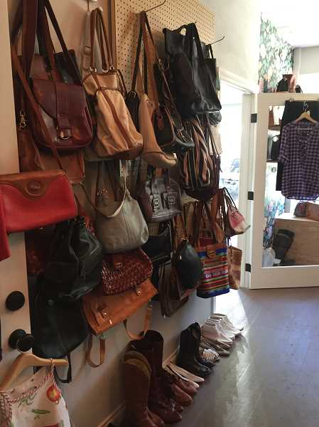 PHOTO COURTESY OF GEORGINA YOUNG-ELLIS - Multnomah Marketplace carries a wide array of vintage and secondhand handbags at affordable prices.