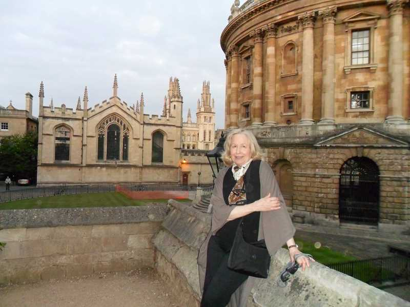 SUBMITTED PHOTO  - Keonjian poses for a photo in front of a stately building during her Oxford school days.