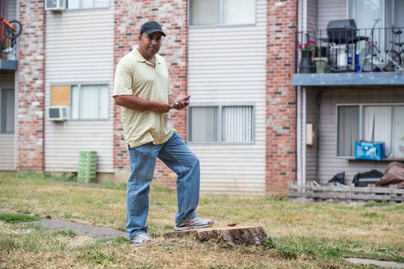 TIMES PHOTO: JONATHAN HOUSE - Tigardville Apartments resident Chris Mckenzie has been fighting the mass termination of tenants' leases at the complex.
