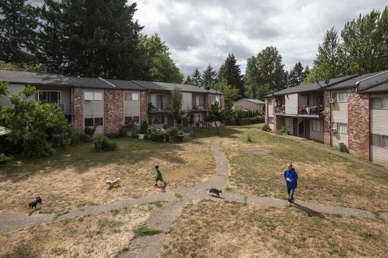 TIMES PHOTO: JONATHAN HOUSE - Residents of the Tigardville Apartments are getting kicked out, and the new landlord is planning to raise rents.