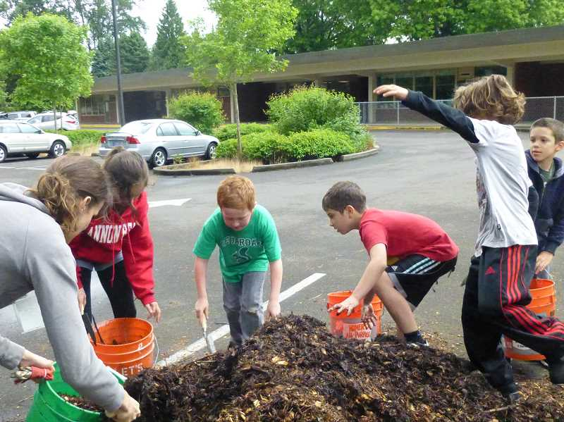 SUBMITTED PHOTO - The Cedaroak Park Primary Garden Club is just one example of the type of programs the West Linn Eco-School Network hopes to implement at all West Linn schools in the future.