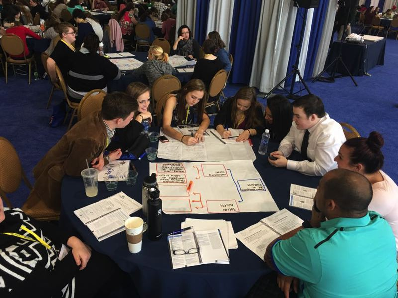 SUBMITTED PHOTO - Earlier this year, high schoolers on the StandUp Tualatin Leadership Team traveled to Washington, D.C. to attend the national CADCA Impact Conference, where they discussed and diagrammed where youth marijuana use.