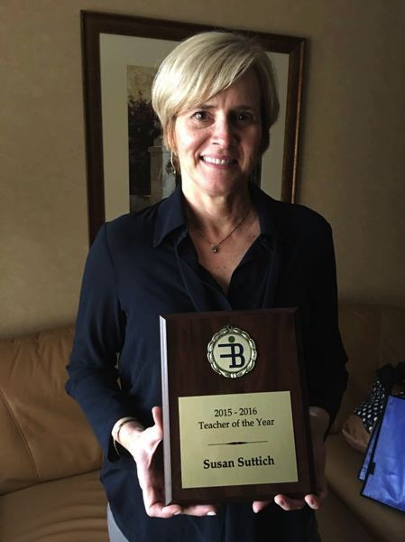 SUBMITTED PHOTO - Tigard High School Business Marketing teacher, Sue Suttich was recognized by the Financial Beginnings Organization as the Personal Finance Teacher of the Year.