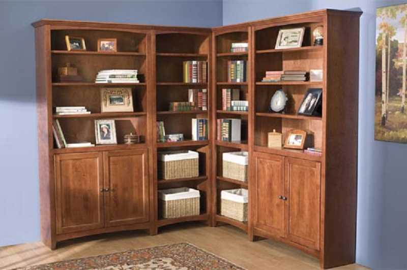 A beautiful Whittier Wood Bookcase