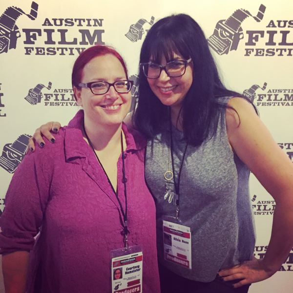 COURTESY: ALICIA J. ROSE - Writer Courtenay Hameister, left, and Alicia J. Rose attended the Austin Film Festival together.