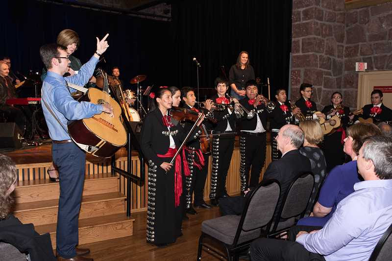COURTESY PHOTO - Hillsboro School District's Mariachi Una Voz, directed by Dan Bosshardt, plays at school and pubic events around western Washington County. The group was awarded a 2016 Endowment Award by the Hillsboro Arts and Culture Council.