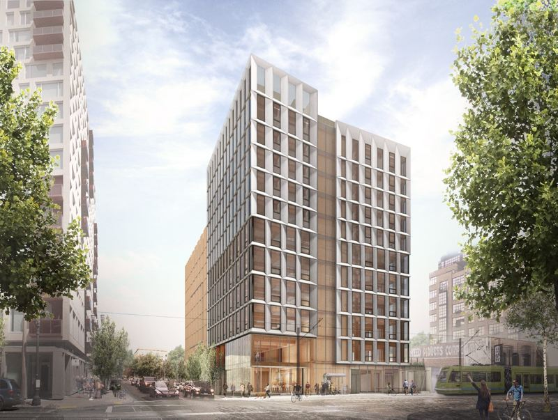 COURTESY: LEVER ARCHITECTURE - Framework, a planned 12-story mass timber building in the Pearl District, is set to be the tallest all-wood building in the nation when constructed. Groundbreaking happens next month.