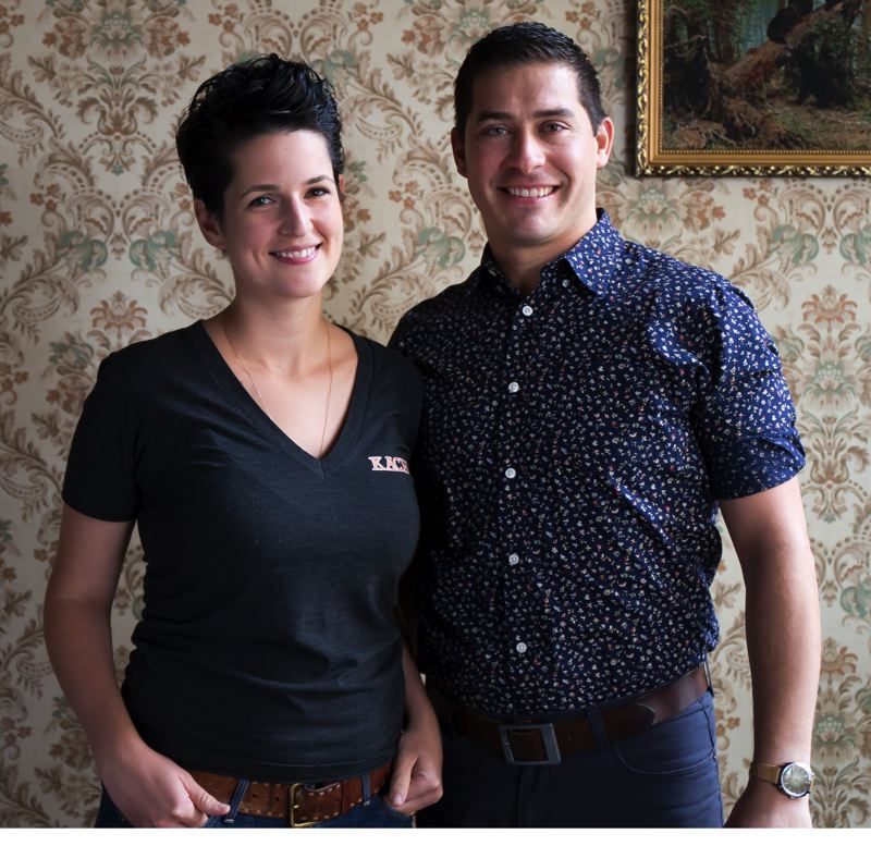 COURTESY: CARLY DIAZ - Kachka chef/co-owner Bonnie Morales (pictured with husband Israel) plans to open a second Russian restaurant in Southeast Portland.
