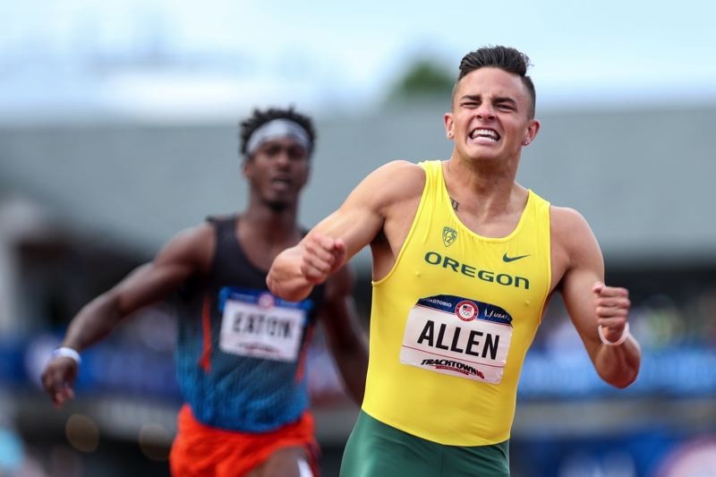 TRIBUNE FILE PHOTO: DAVID BLAIR - Devon Allen of Oregon made it to the Olympic finals in Rio de Janeiro as the U.S. champion in the 110-meter hurdles.