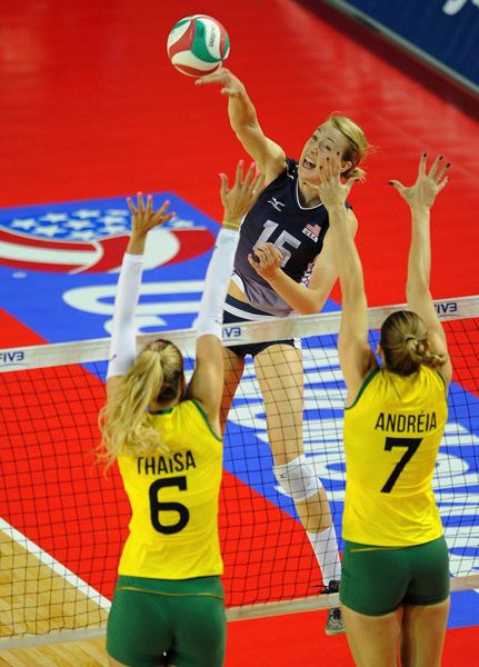 COURTESY: USA VOLLEYBALL - Kim Hill, from Portland Christian High, starred for the medal-winning U.S. Olympic women's volleyball team.