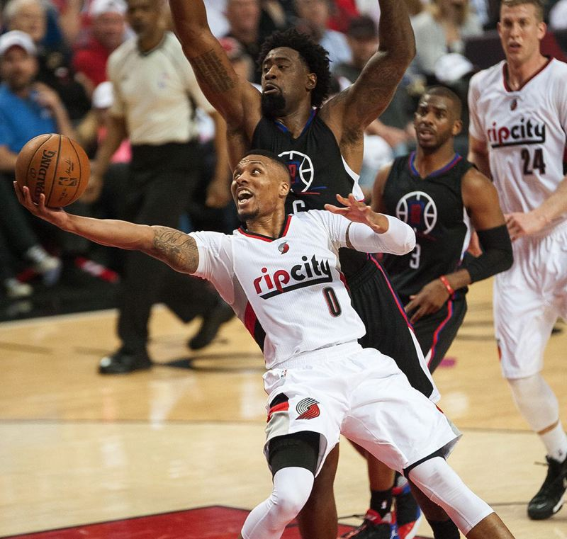 TRIBUNE PHOTO: JOSH KULLA - Damian Lillard's play helped the Trail Blazers reach the second round of the 2016 NBA playoffs.