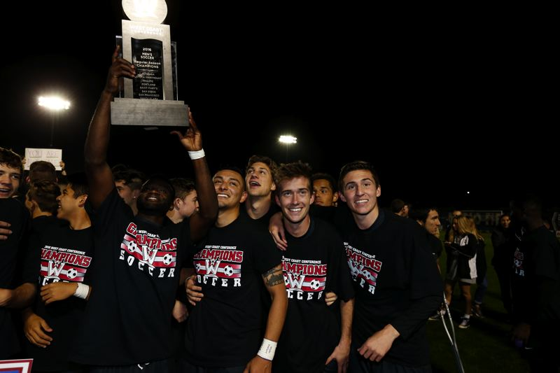 COURTESY: UNIVERSITY OF PORTLAND - The Portland Pilots men's soccer team won the West Coast Conference championship.