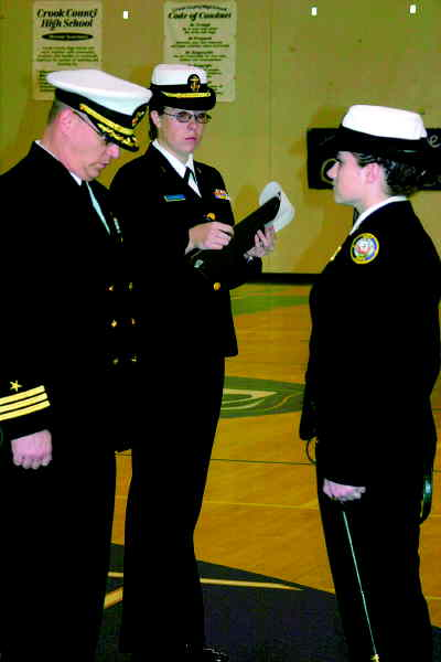 by: CENTRAL OREGONIAN - NJROTC inspection