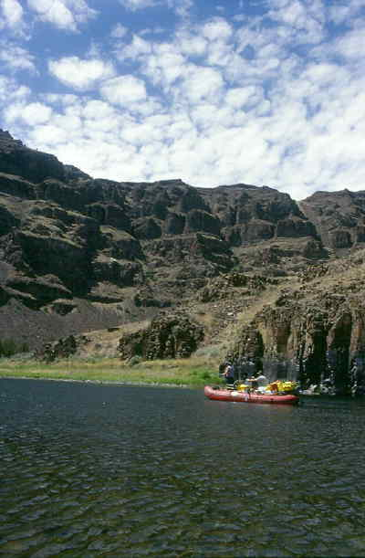 by: SCOTT STAATS/CENTRAL OREGONIAN - Boats float and fish on the John Day River.