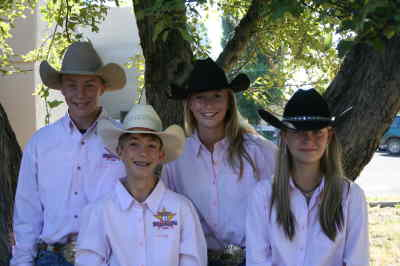 by: ANDREW MATHESON/CENTRAL OREGONIAN - Locals returned from New Mexico from the Wrangler Junior High Finals Rodeo. Pictured from left to right are, Hunter Hicks, Kyler Talburt, Casey Loper, and Cheyenne Westwood.
