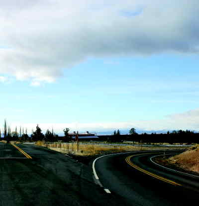 by: ANNEMARIE KNEPPER/CENTRAL OREGONIAN - Many consider the intersection where the Powell Butte Highway meets Alfalfa Road to contain a dangerously sharp curve.