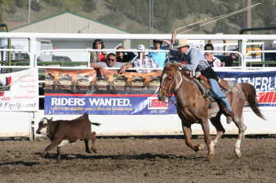 by: ANDREW MATHESON/CENTRAL OREGONIAN - Christian Radabaugh, above at last year's Crook County High School Rodeo at the Crook County Fairgrounds, will help lead the boys team this year in spring rodeo.