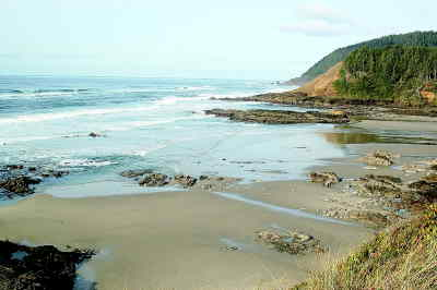by: SCOTT STAATS/CENTRAL OREGONIAN - Low tite on the Oregon coast near Cape Perpetua.