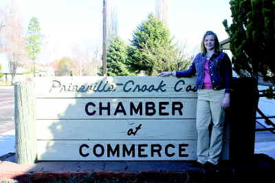 by: KEVIN GABOURY/CENTRAL OREGONIAN - Prineville native Brandi Hereford is the Chamber's selection for executive director.