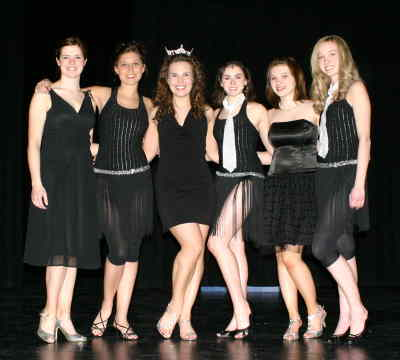 by: Kevin Gaboury/CENTRAL OREGONIAN - Hopefuls for this year, pictured from left to right are: JoBeth Hamon, Shaley Vaughan, 2007 Miss Crook County Maureen O'Doherty, Joanna Knower, Audrey Drake and Carlie Severson.