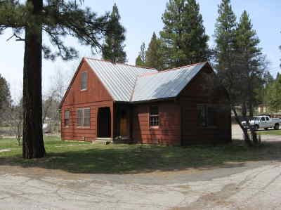 by: FRIENDS OF RAGER - This structure, built by the CCC in 1941, served as the Rager station's main office from 1941 to 1964. It is now used as a recreation hall.
