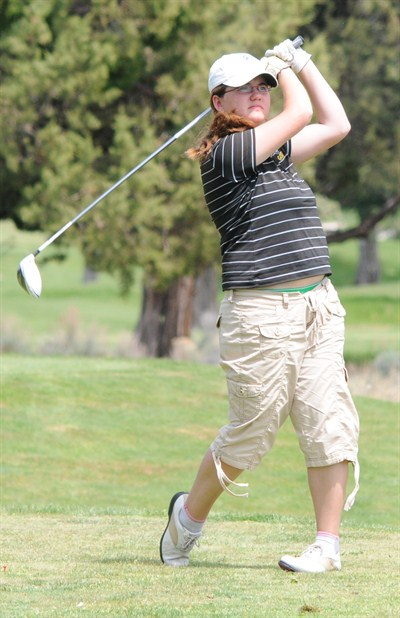 by: LON AUSTIN?CENTRAL OREGONIAN - Chelsea Shank is expected to lead the Cowgirl golf team next season. The sophomore shot her best rounds of the year at district and state.