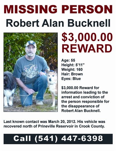 by: CONTRIBUTED POSTER - Robert Bucknell reward poster