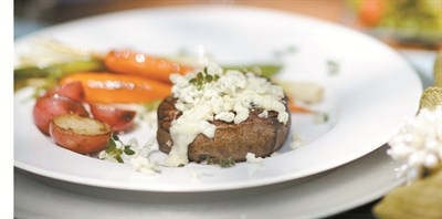 by:  - Steak with Gorgonzola Thyme Crust