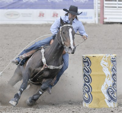 by: LON AUSTIN/CENTRAL OREGONIAN - The slack portion of barrel racing will be held Friday evening following the regular Roundup performance.