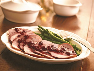 by:  - Red Tart Cherry Glazed Ham
