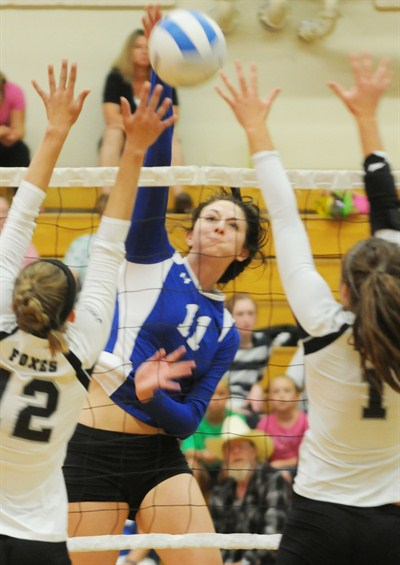 by: LON AUSTIN/CENTRAL OREGONIAN - Makayla Lindburg was recently named to the MaXPrepSports medium schools All-american first team in volleyball. The Crook County High School senior was also one of six players nominated for player of the year.