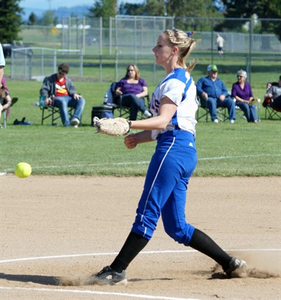by: Photo By Andy Wooldridge/Oregonprepsports.net - Madras pitcher Jamie Moe delivers a pitch at Cascade during an OSAA Class 4A softball quarterfinal game.