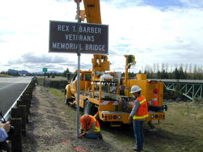 by: Contributed - The sign noting the new name of the bridge was put up last Wednesday.