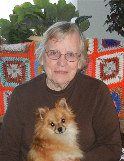 by: Submitted Photo - Edna Ashburn and her dog Sandy.