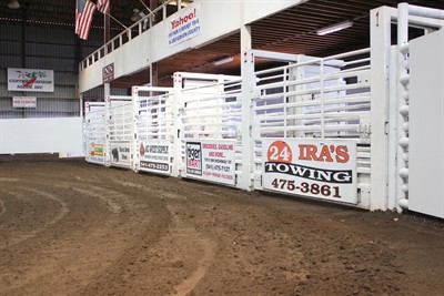 by: Photo By Joe McHaney - Corwin Arena has newly acquired rough stock chutes from the Sisters Rodeo Association in place for this week's annual Jefferson County Rodeo.