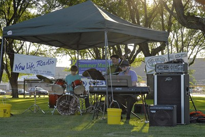 by: Submitted Photo - The Dr. Jazz Trio performed at the first Summer MusicFest concert in the park.